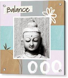 Balance- Zen Art Acrylic Print by Linda Woods