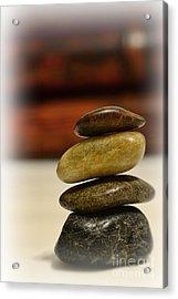 Balanced Acrylic Print by Paul Ward