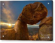 Balanced Rock Acrylic Print by Inge Johnsson