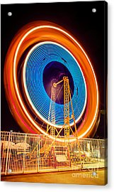 Balboa Fun Zone Ferris Wheel At Night Picture Acrylic Print by Paul Velgos