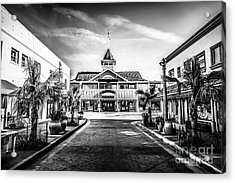 Balboa Pavilion Newport Beach Black And White Picture Acrylic Print by Paul Velgos