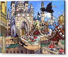 Balcony Of Princess Jasmine Acrylic Print by Reynold Jay