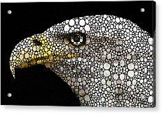 Bald Eagle Art - Eagle Eye - Stone Rock'd Art Acrylic Print by Sharon Cummings