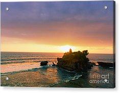 Bali Tanah Lot Temple At Sunset Acrylic Print by Fototrav Print