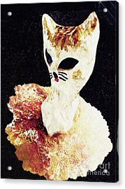 Fanciful Cat Acrylic Print featuring the sculpture Ballerina 2 by Sarah Loft