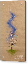 Ballerina And Elephant Acrylic Print by David Breeding