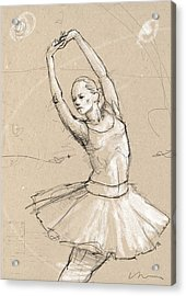 Ballerina Acrylic Print by H James Hoff