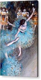 Ballerina On Pointe  Acrylic Print by Edgar Degas