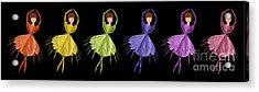 Ballerina Rainbow 1 Acrylic Print by Andee Design