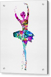 Ballerina Watercolor 1 Acrylic Print by Naxart Studio