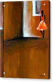 Ballerine Solitaire Acrylic Print by Mirko Gallery