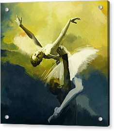 Ballet Dancer Acrylic Print by Corporate Art Task Force