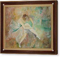Ballet Dancers Acrylic Print by Ri Mo