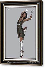 Ballet On Skates 2bos2 Acrylic Print by Pemaro