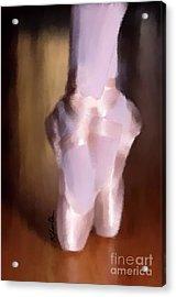 Ballet Slippers 2 Acrylic Print by Karen Larter