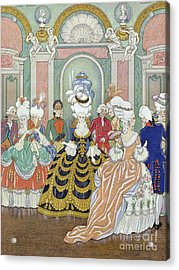 Ballroom Scene Acrylic Print by Georges Barbier