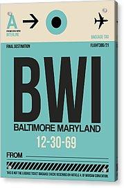 Baltimore Airport Poster 1 Acrylic Print by Naxart Studio