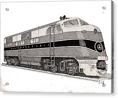 Baltimore And Ohio Diesel Engine Acrylic Print by Calvert Koerber
