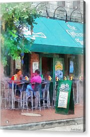 Baltimore - Happy Hour In Fells Point Acrylic Print by Susan Savad