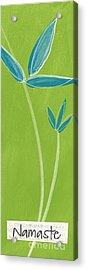 Bamboo Namaste Acrylic Print by Linda Woods