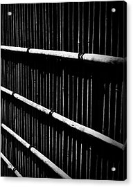 Bamboo Screen Acrylic Print by Claire Carpenter
