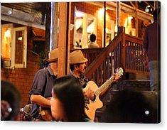 Band At Palaad Tawanron Restaurant - Chiang Mai Thailand - 01131 Acrylic Print by DC Photographer