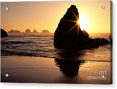 Bandon Golden Moment Acrylic Print by Inge Johnsson