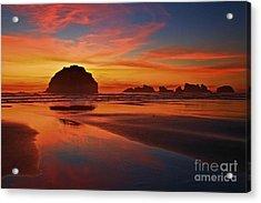 Bandon Sunset Spectacular Acrylic Print by Adam Jewell