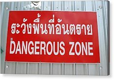 Bangkok Dangerous Zone Acrylic Print by Gregory Smith