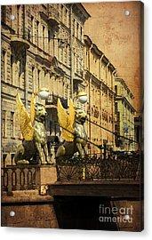 Bank Bridge Acrylic Print by Elena Nosyreva