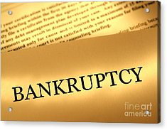Bankruptcy Notice Acrylic Print by Olivier Le Queinec