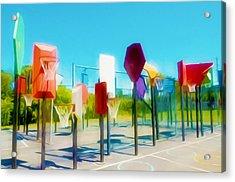 Bankshot Basketball 2 Acrylic Print by Lanjee Chee