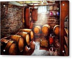 Bar - Wine - The Wine Cellar  Acrylic Print by Mike Savad