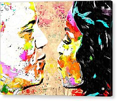 Barack And Michelle  Acrylic Print by Daniel Janda