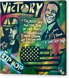 Barack And Mos Def Acrylic Print by Tony B Conscious