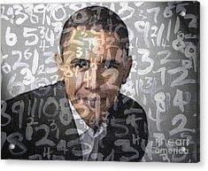 Barack Obama Acrylic Print by Adeart