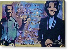 Barack With Michelle Acrylic Print by Tony B Conscious