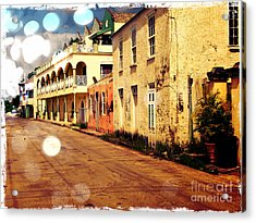 Barbados Street Scene Acrylic Print by Sophie Vigneault