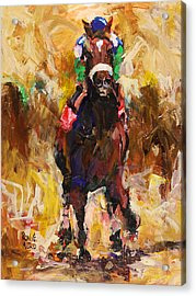 Barbaro Acrylic Print by Ron and Metro