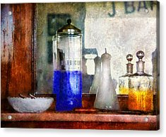 Barber - Blueberry Flavored Thanks For Asking Acrylic Print by Mike Savad