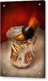Barber - Shaving - The Beauty Of Barbering Acrylic Print by Mike Savad