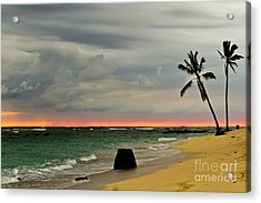 Barbers Point Sunset Acrylic Print by Terry Cotton