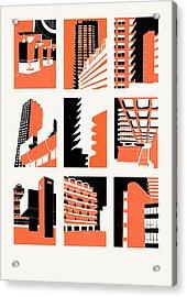 Barbican Acrylic Print by Eliza Southwood