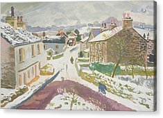 Barbon In The Snow Acrylic Print by Stephen Harris