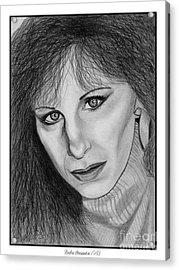 Barbra Streisand In 1983 Acrylic Print by J McCombie