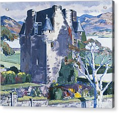 Barcaldine Castle Acrylic Print by Francis Campbell Boileau Cadell