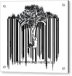 Barcode Graffiti Poster Print Unzip The Code Acrylic Print by Sassan Filsoof