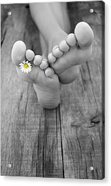 Barefoot Acrylic Print by Aged Pixel