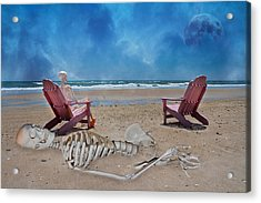 Bargaining With The Moon Acrylic Print by Betsy Knapp