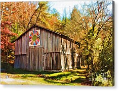 Barn At Red River Gorge Acrylic Print by Lena Auxier